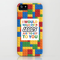 I'd walk over Legos iPhone & iPod Case by Nico Zahlut