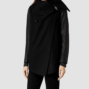Womens Chai Jacket (Black) | ALLSAINTS.com
