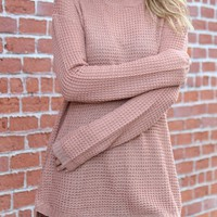 Waffle Pull Over Sweater