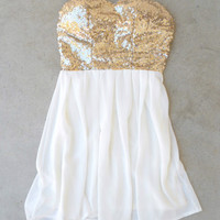 Sparkle & Ivory Party Dress