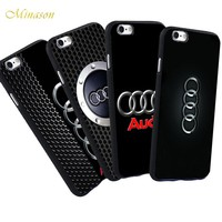 Minason For iPhone X 8 5 S 5S SE 7 Plus 6 6S Audi Case Luxury Car Audi A4 A6 Logo Printed Phone Black Silicone Soft Case