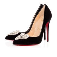 Cristacora 120 Black Velvet - Women Shoes - Christian Louboutin