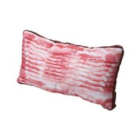 Exclusive Funny Bacon Pillow - 18 X 10 - Photo Realistic