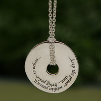 Keep the Peace Within, Sterling Silver Necklace