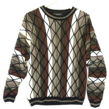 Vertical Zig Zag Tribal Textured Cosby Sweater - The Ugly Sweater Shop