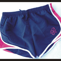 Monogrammed Athletic Shorts by CheeksLittleBoutique on Etsy