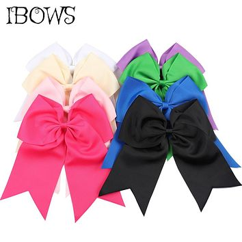 25 Colors 8 Inch Large Ribbon Cheer Bow With Alligator Clips Cheerleading Dance Hair Bows For Girls Barrette Hair Accessoires