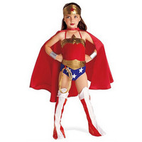 Halloween Superman Wonder Woman Children Party Cosplay Costumes Gift For Girls Clothes Children's Clothing Set CO62165175