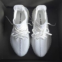 adidas Yeezy Boost 350 V2 Triple White Sneakers Running Sports Shoes