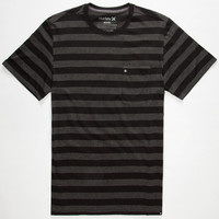 Hurley Dri-Fit Captain Mens T-Shirt Black  In Sizes
