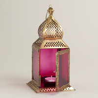 Small Purple Kamali Tabletop Lantern | World Market