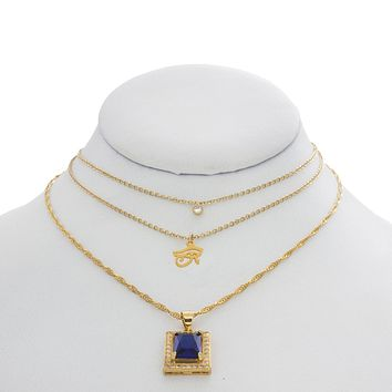Sapphire Eyes Necklace