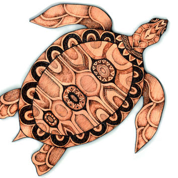 Sea Turtle Wall Hanging, Pyrography (Wood burning) Wood Wall hanging, sea art, marine decor, ocean art, sea turtle Wall art, turtle decor
