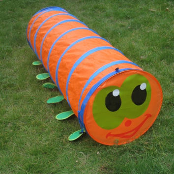 Children's Tent Caterpillar Crawling Animal Tunnel Baby Puzzle Toys Indoor and Outdoor Kids Play Tent