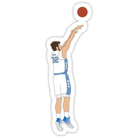 'Luke Maye - The Shot' Sticker by lexjincoelho