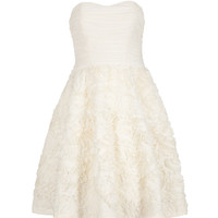 Strapless ruffle dress - Natural | Dresses | Ted Baker UK