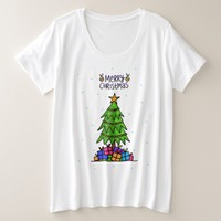Merry Christmas Tree Plus Size T-Shirt