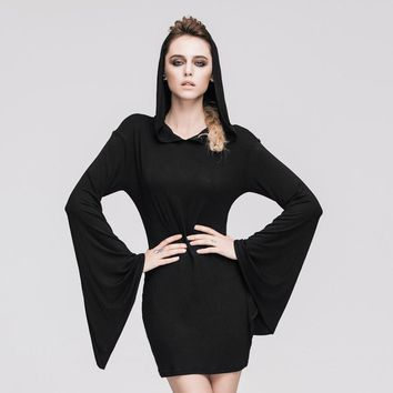 Flare Sleeved Hooded Mini-Dress      *LIMITED EDITION*