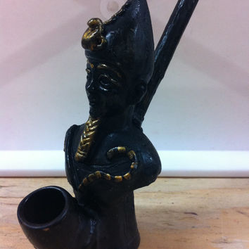 Tobacco Hand Made Pipe, Ramesses II Design