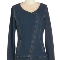 ModCloth Urban Mid-length Long Sleeve Laid-back in Town Jacket