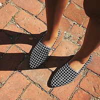 All Black Womens Seven Bistro Flat