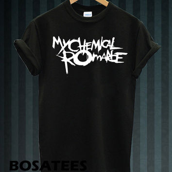 My Chemical Romance shirt American ROCK T-shirt printed black and white unisex size (BS-97)