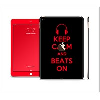 The Keep Calm & Beats On Red Skin Set for the Apple iPad Pro
