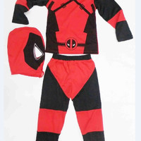 Children Deadpool Costume, Boys Halloween Party Cosplay Costume for Kids