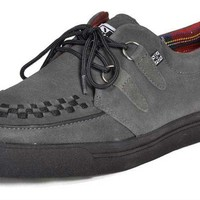 T.U.K. Grey Black Creeper Sneakers - T.U.K. Creepers and boots