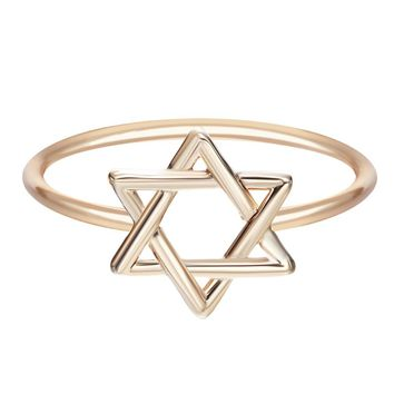 Star of David Unique Ring Minimalist Jewelry Gift