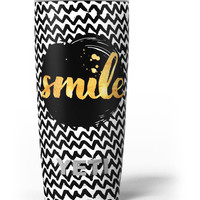 Smile Sketch on Foil Yeti Rambler Skin Kit