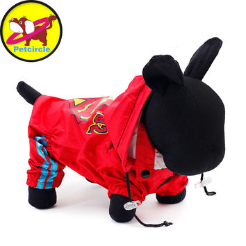 2015 Petcircle Free Shipping Hot Sale Dog Raincoat Clothing High Quality New Fashion Waterproof Breathable 2 Color Dog Clothes