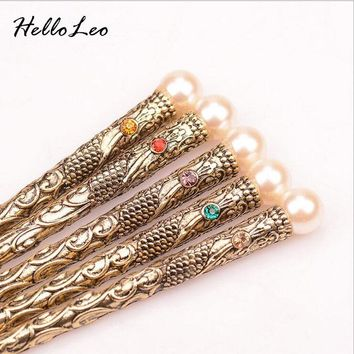 Retro Nature peals simple Hair stick Bob Handmade vintage Women jewelry Chinese hair stick Gift