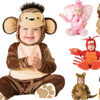 Cartoon Baby Infant Elephant Lobster Romper Kids Onesuit Suit Animal Cosplay Shapes Costume Child autumn winter Clothing