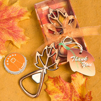 Leaf Design Bottle Openers - Fall Wedding Favors