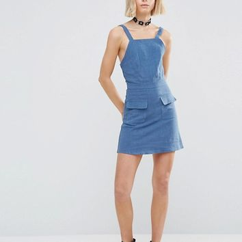 Glamorous Pinafore Dress at asos.com