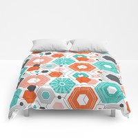 Too Hip To Be Square Comforters by Heather Dutton
