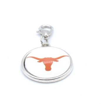 Texas Longhorns: Women's Pendant Charm for Bracelet or Necklace