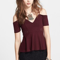 Women's Free People 'Seriously in Love' Jersey Peplum Top