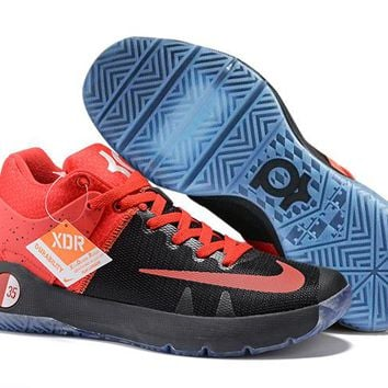 HCXX N318 Nike Zoom KD Trey 5 iv Low Actual Basketball Shoes Red Black Blue
