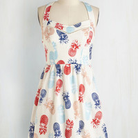 Vintage Inspired Mid-length Sleeveless Whimsical and the Gang Dress