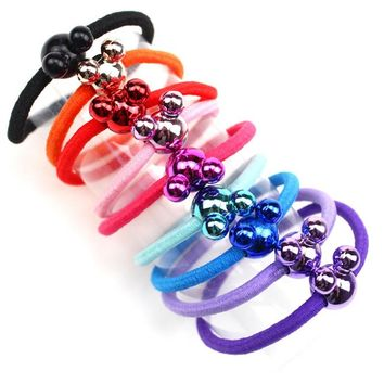 1PCS Colorful Mickey Hair Accessories For Women Headband Elastic Bands For Hair For Girls Hair Band Hair Ornaments For Kids