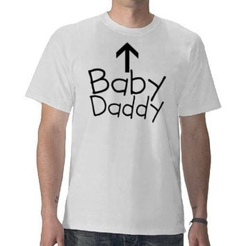 Funny Baby Daddy Arrow Expecting Dad T-Shirt from Zazzle.com