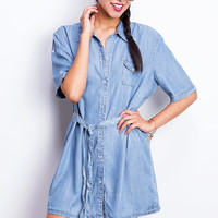 Chill+Denim+Shirt+Dress