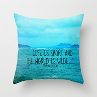 LIFE IS SHORT II  Throw Pillow by Tara Yarte  | Society6