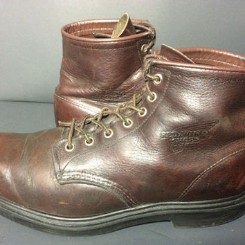 RED WING 2911 Chukka Classic Round Toe Brown Leather Work Boots Men's Size 10.5