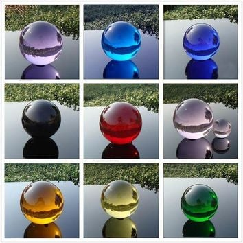 LMF78W 4CM Multicolor Asian Quartz Crystal Glass Ball Feng shui Magic Healing Crystals Balls Sphere Decorating gemstone Figurines
