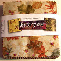 "Bittersweet, 5"" Pre Cut Charm Squares, by Benartex"