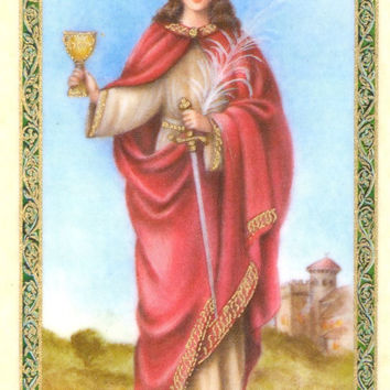 Saint Barbara Prayer Card