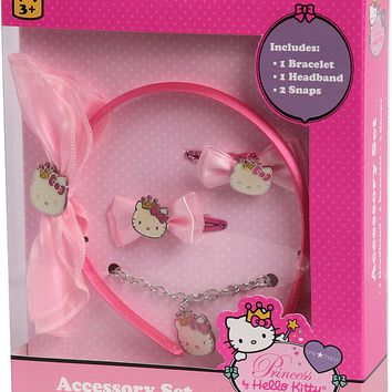 hello kitty 3 piece headband snap bows & bracelet Case of 12
